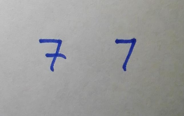 Die Sieben – kurze Notiz zu einer Zahl, die es nicht gibt